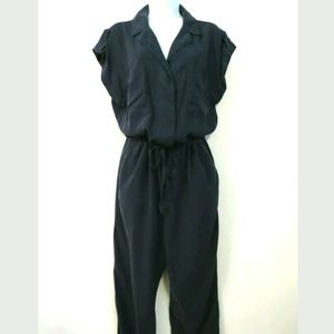 Sanctuary surplice jumpsuit Navy blue Large